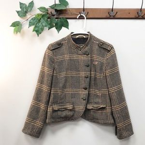 HOLLISTER | Plaid Military Wool Fall Jacket